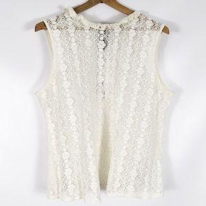 ASOS | lace mock neck sleeveless shirt